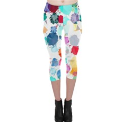 Colorful Diamonds Dream Capri Leggings