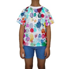 Colorful Diamonds Dream Kids  Short Sleeve Swimwear