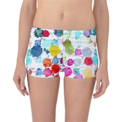 Colorful Diamonds Dream Boyleg Bikini Bottoms