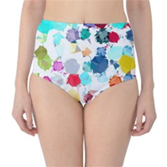 Colorful Diamonds Dream High-Waist Bikini Bottoms