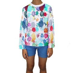 Colorful Diamonds Dream Kids  Long Sleeve Swimwear