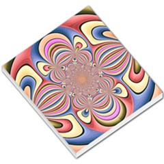 Pastel Shades Ornamental Flower Small Memo Pads by designworld65
