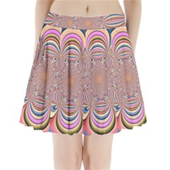 Pastel Shades Ornamental Flower Pleated Mini Skirt by designworld65