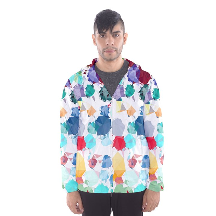 Colorful Diamonds Dream Hooded Wind Breaker (Men)