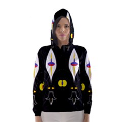 Flower Of Life Two Hooded Wind Breaker (women) by MRTACPANS
