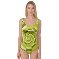 Crazy Dart Green Gold Spiral Princess Tank Leotard