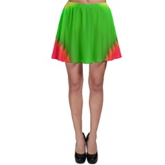 Colorful Abstract Butterfly With Flower  Skater Skirt by designworld65
