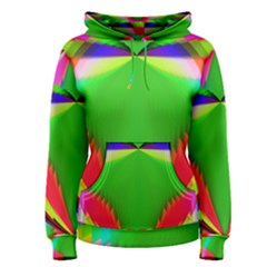 Colorful Abstract Butterfly With Flower  Women s Pullover Hoodie by designworld65