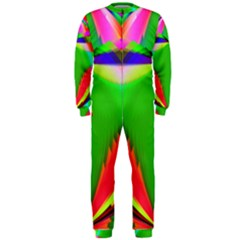 Colorful Abstract Butterfly With Flower  Onepiece Jumpsuit (men)  by designworld65