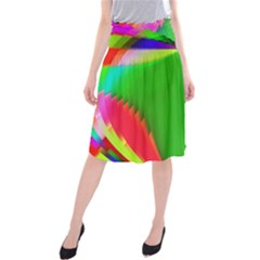 Colorful Abstract Butterfly With Flower  Midi Beach Skirt by designworld65
