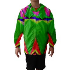 Colorful Abstract Butterfly With Flower  Hooded Wind Breaker (kids) by designworld65