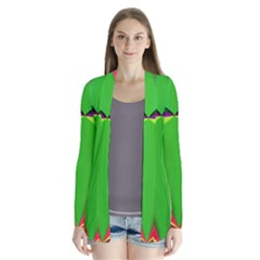 Colorful Abstract Butterfly With Flower  Drape Collar Cardigan by designworld65