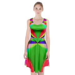 Colorful Abstract Butterfly With Flower  Racerback Midi Dress by designworld65