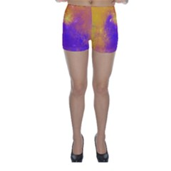 Colorful Universe Skinny Shorts by designworld65