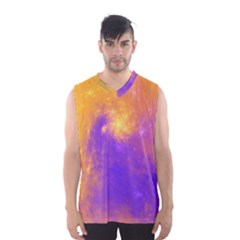 Colorful Universe Men s Basketball Tank Top by designworld65
