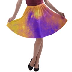 Colorful Universe A Line Skater Skirt by designworld65