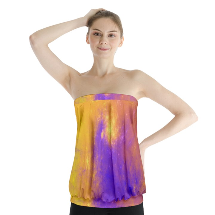 Colorful Universe Strapless Top