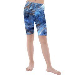 Blue Colorful Abstract Design  Kids  Mid Length Swim Shorts by designworld65