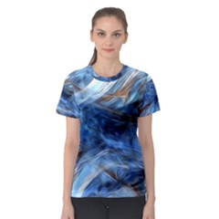 Blue Colorful Abstract Design  Women s Sport Mesh Tee by designworld65