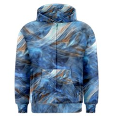Blue Colorful Abstract Design  Men s Zipper Hoodie by designworld65