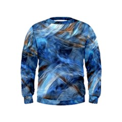 Blue Colorful Abstract Design  Kids  Sweatshirt by designworld65