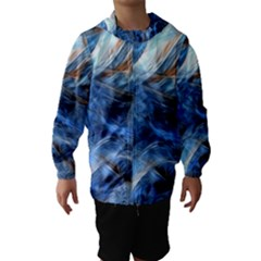 Blue Colorful Abstract Design  Hooded Wind Breaker (kids) by designworld65