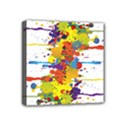 Crazy Multicolored Double Running Splashes Mini Canvas 4  x 4  View1