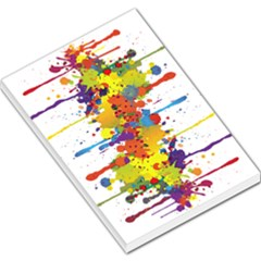 Crazy Multicolored Double Running Splashes Large Memo Pads by EDDArt