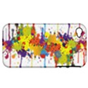 Crazy Multicolored Double Running Splashes Apple iPhone 4/4S Hardshell Case (PC+Silicone) View1