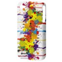Crazy Multicolored Double Running Splashes Apple iPhone 4/4S Hardshell Case (PC+Silicone) View3