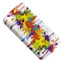Crazy Multicolored Double Running Splashes Apple iPhone 4/4S Hardshell Case (PC+Silicone) View5
