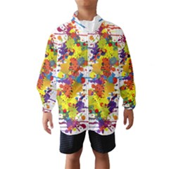 Crazy Multicolored Double Running Splashes Wind Breaker (kids) by EDDArt