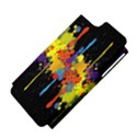 Crazy Multicolored Double Running Splashes Horizon Apple iPhone 5 Hardshell Case (PC+Silicone) View4