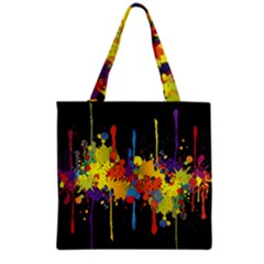 Crazy Multicolored Double Running Splashes Horizon Grocery Tote Bag
