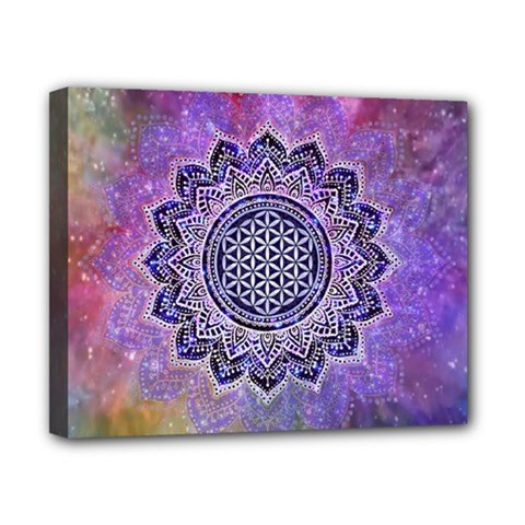 Flower Of Life Indian Ornaments Mandala Universe Canvas 10  X 8  by EDDArt