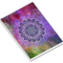 Flower Of Life Indian Ornaments Mandala Universe Large Memo Pads by EDDArt