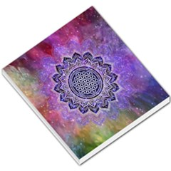 Flower Of Life Indian Ornaments Mandala Universe Small Memo Pads by EDDArt