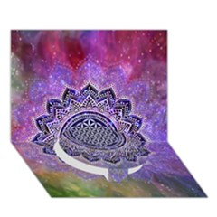 Flower Of Life Indian Ornaments Mandala Universe Circle Bottom 3d Greeting Card (7x5) by EDDArt