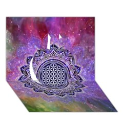 Flower Of Life Indian Ornaments Mandala Universe Apple 3d Greeting Card (7x5) by EDDArt