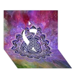 Flower Of Life Indian Ornaments Mandala Universe Ribbon 3d Greeting Card (7x5) by EDDArt