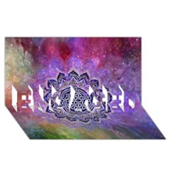 Flower Of Life Indian Ornaments Mandala Universe Engaged 3d Greeting Card (8x4) by EDDArt
