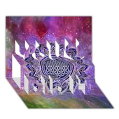 Flower Of Life Indian Ornaments Mandala Universe You Did It 3d Greeting Card (7x5) by EDDArt