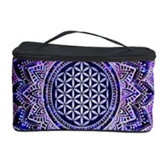 Flower Of Life Indian Ornaments Mandala Universe Cosmetic Storage Case by EDDArt