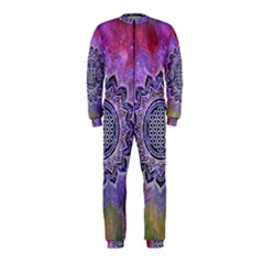 Flower Of Life Indian Ornaments Mandala Universe Onepiece Jumpsuit (kids)