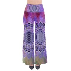 Flower Of Life Indian Ornaments Mandala Universe Pants by EDDArt