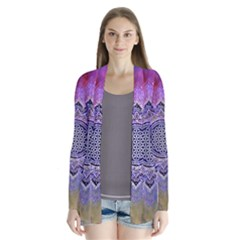 Flower Of Life Indian Ornaments Mandala Universe Drape Collar Cardigan