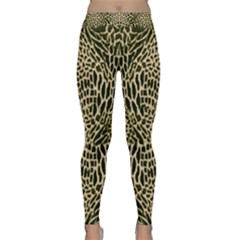 Brown Reptile Yoga Leggings