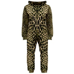 Brown Reptile Hooded Jumpsuit (ladies)