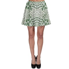 Green Snake Texture Skater Skirt by LetsDanceHaveFun