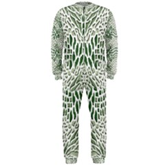 Green Snake Texture Onepiece Jumpsuit (men)  by LetsDanceHaveFun
